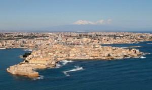 Die antike Stadt Syrakus auf Sizilien